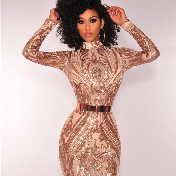 0c66a06179ef Hot Miami Styles Dresses | Rose Gold Sequin Party Dress | Poshmark